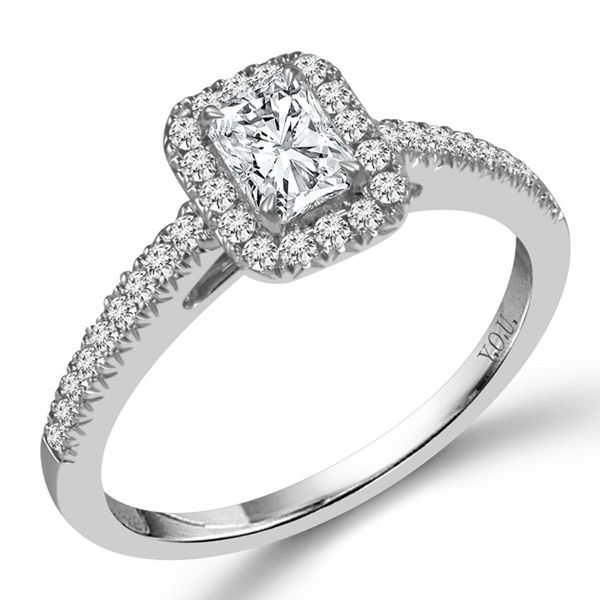 Radiant Cut Halo Diamond Engagement Ring Meigs Jewelry Tahlequah, OK