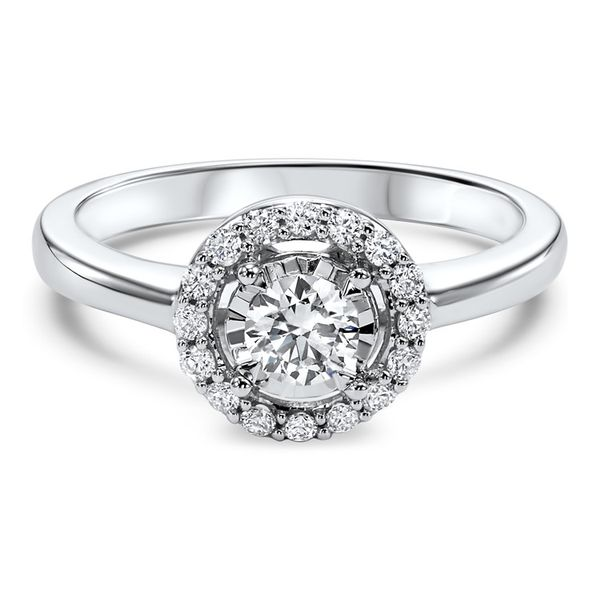 Round Halo Diamond Engagement Ring Meigs Jewelry Tahlequah, OK