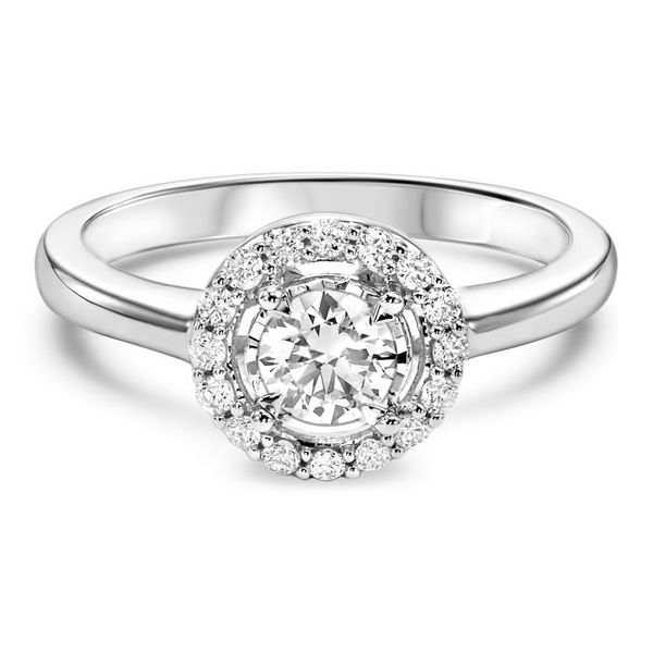 Round Double Halo Diamond Engagement Ring Meigs Jewelry Tahlequah, OK
