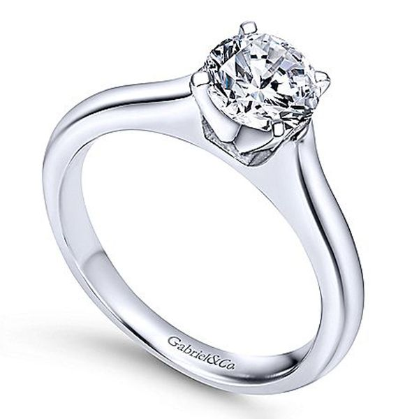 Gabriel & Co. Round Solitaire Engagement Ring Image 3 Meigs Jewelry Tahlequah, OK