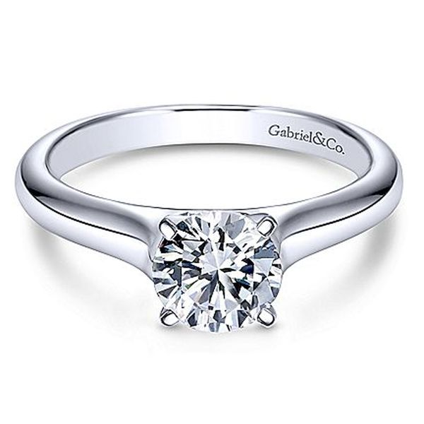 Gabriel & Co. Round Solitaire Engagement Ring Meigs Jewelry Tahlequah, OK