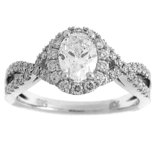 Oval Diamond Halo Engagement Ring Meigs Jewelry Tahlequah, OK