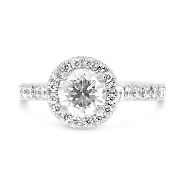 Round Diamond Halo Engagement Ring Meigs Jewelry Tahlequah, OK