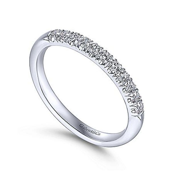 White Gold French Pave Diamond Band Image 3 Meigs Jewelry Tahlequah, OK