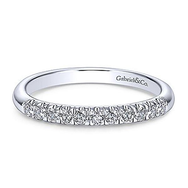 White Gold French Pave Diamond Band Meigs Jewelry Tahlequah, OK