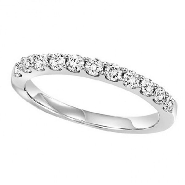 White Gold Shared Prong Diamond Band Meigs Jewelry Tahlequah, OK