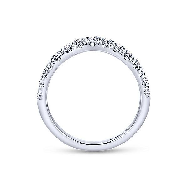 Curved French Pave Diamond Band Image 2 Meigs Jewelry Tahlequah, OK