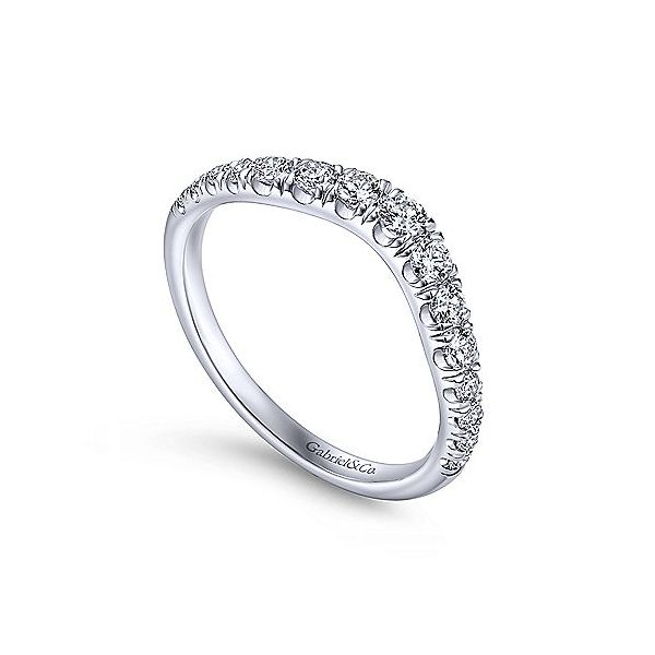 Curved French Pave Diamond Band Image 3 Meigs Jewelry Tahlequah, OK