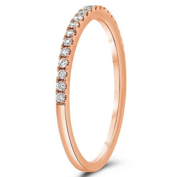 14 Karat Rose Gold Diamond Band Image 3 Meigs Jewelry Tahlequah, OK
