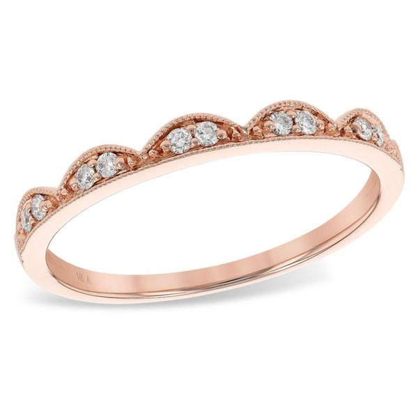 Rose Gold Diamond Scalloped Band Meigs Jewelry Tahlequah, OK