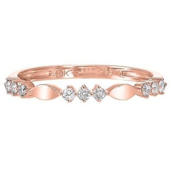 Rose Gold Diamond Stackable Band Meigs Jewelry Tahlequah, OK