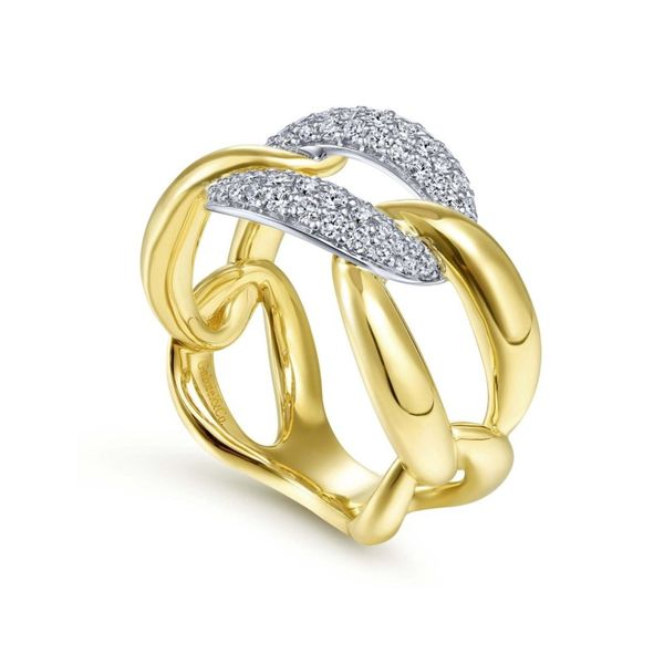 Two Tone Diamond Knot Fashion Ring Image 3 Meigs Jewelry Tahlequah, OK