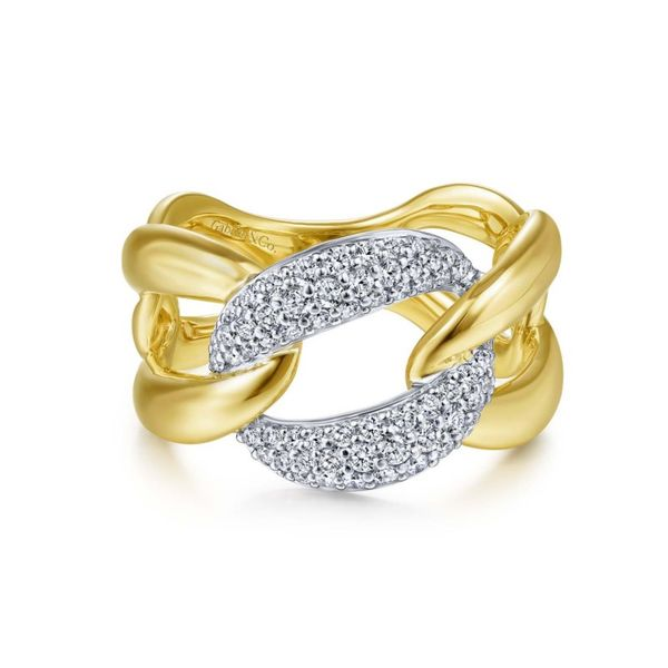 Two Tone Diamond Knot Fashion Ring Meigs Jewelry Tahlequah, OK