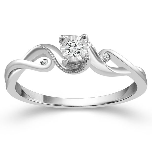 Rhodium Plated Sterling Silver Promise Ring Meigs Jewelry Tahlequah, OK