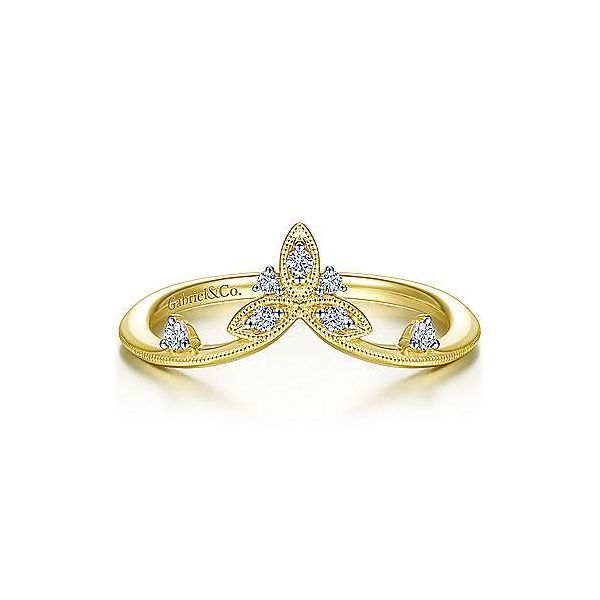Gabriel & Co. Pointed Diamond Ring Meigs Jewelry Tahlequah, OK