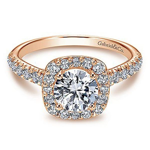 Cushion Halo Diamond Semi Mount Meigs Jewelry Tahlequah, OK