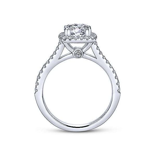 Gabriel & Co. Diamond Halo Semi Mount Image 2 Meigs Jewelry Tahlequah, OK