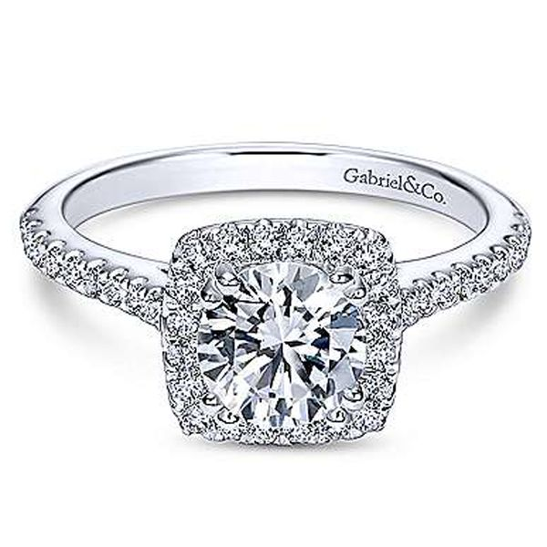 Gabriel & Co. Diamond Halo Semi Mount Meigs Jewelry Tahlequah, OK