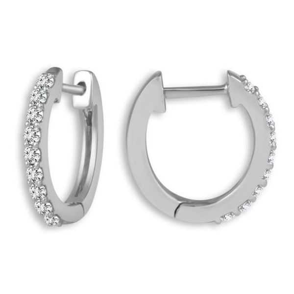 Diamond Huggie Earrings Meigs Jewelry Tahlequah, OK