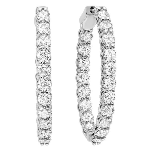 Diamond Hoop Earrings Meigs Jewelry Tahlequah, OK