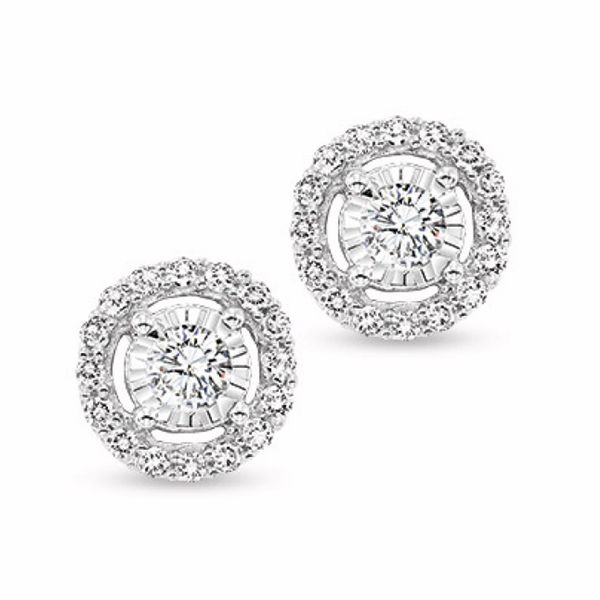 .25CT Diamond Halo Earrings Meigs Jewelry Tahlequah, OK