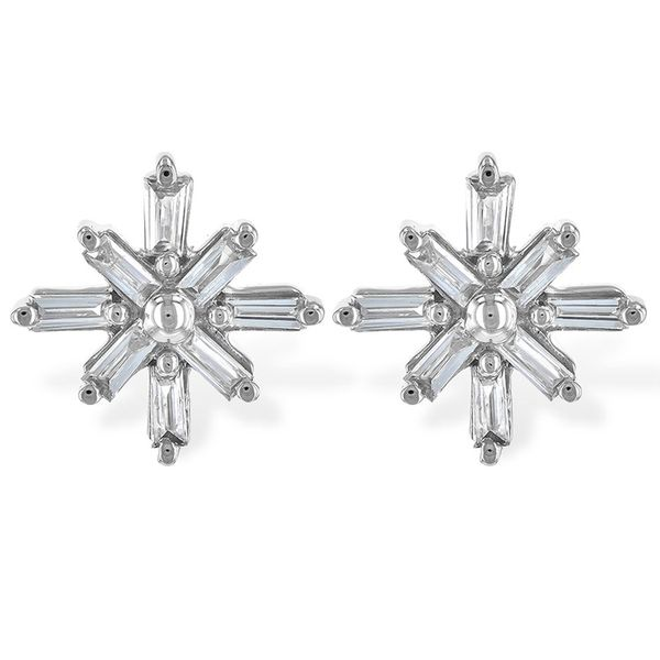 White Gold Diamond Stud Earrings Meigs Jewelry Tahlequah, OK
