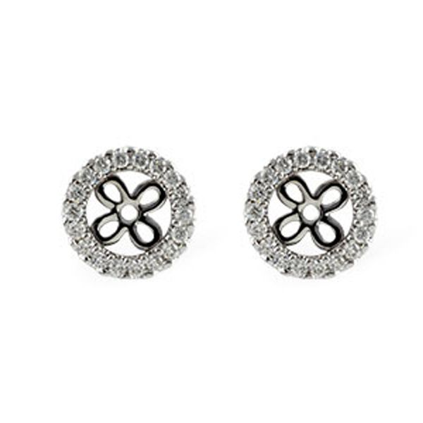 White Gold Diamond Earring Jackets Meigs Jewelry Tahlequah, OK