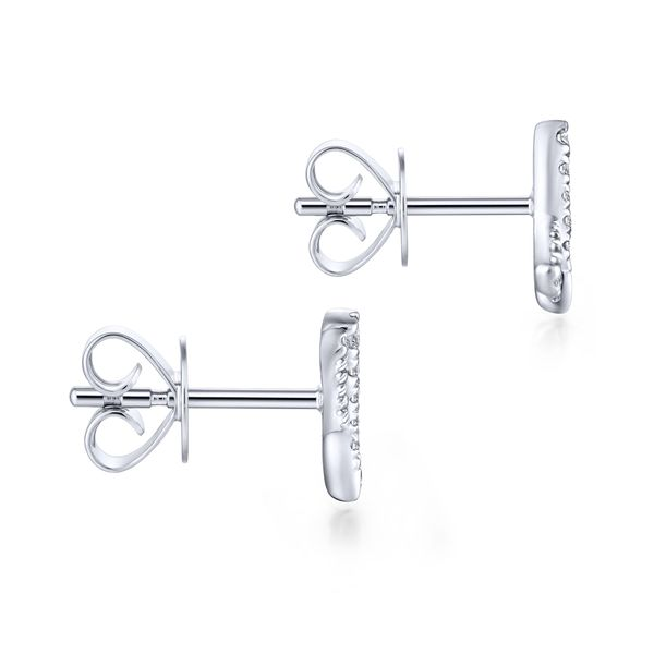 Gabriel & Co. Diamond 'X' Stud Earrings Image 3 Meigs Jewelry Tahlequah, OK