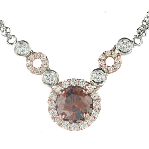 Brown Diamond Halo Necklace Meigs Jewelry Tahlequah, OK