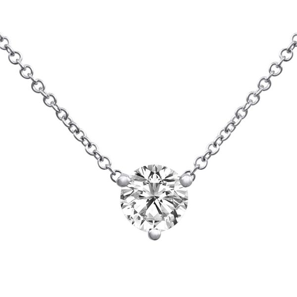 .74CT Diamond Solitaire Necklace Meigs Jewelry Tahlequah, OK
