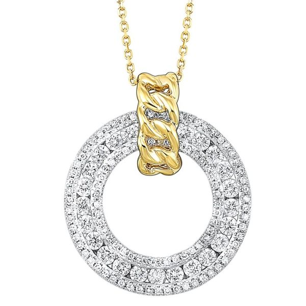 14KTT Circle Diamond Necklace Meigs Jewelry Tahlequah, OK