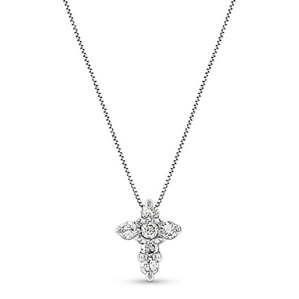White Gold Diamond Cross Necklace Meigs Jewelry Tahlequah, OK
