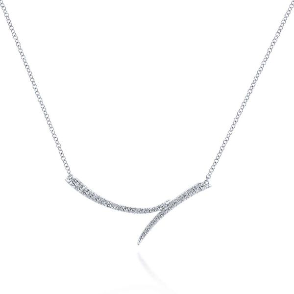 Curved Diamond Bar Necklace Meigs Jewelry Tahlequah, OK