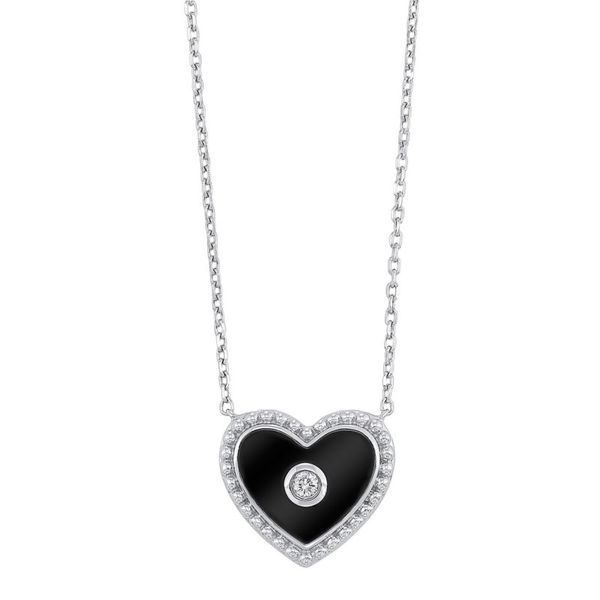 Sterling Silver Black Heart Necklace Meigs Jewelry Tahlequah, OK