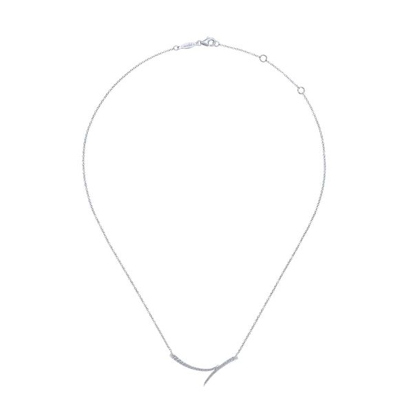 Curved Diamond Bar Necklace Image 2 Meigs Jewelry Tahlequah, OK
