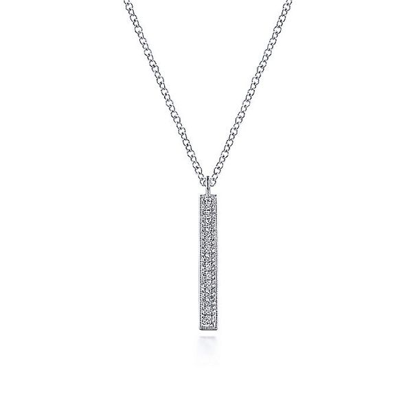 Gabriel & Co. Diamond Bar Necklace Meigs Jewelry Tahlequah, OK