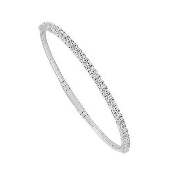 14k White Gold Flex Diamond Bangle Meigs Jewelry Tahlequah, OK