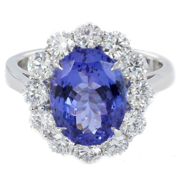 Tanzanite & Diamond Halo Custom Ring Meigs Jewelry Tahlequah, OK