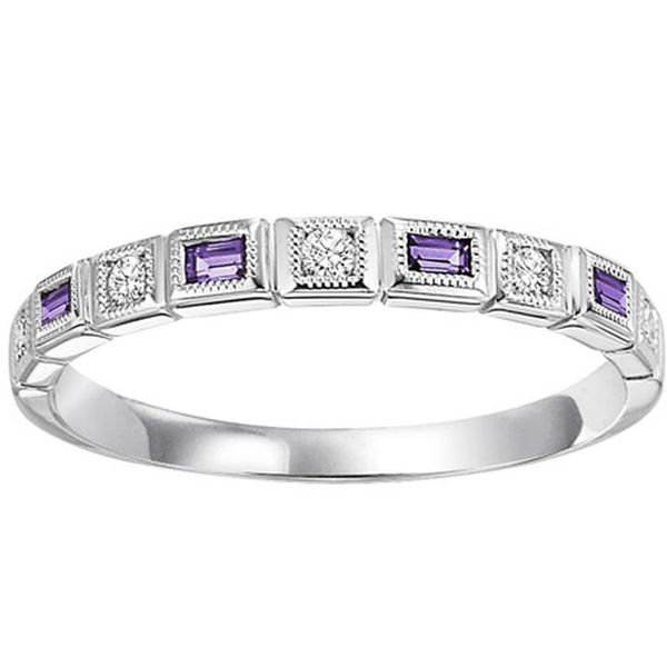 Amethyst & Diamond Stackable Ring Meigs Jewelry Tahlequah, OK