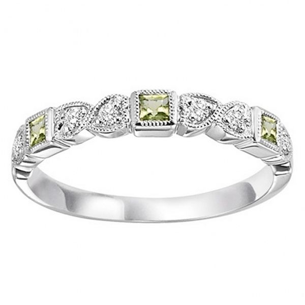 Peridot & Diamond Stackable Band Meigs Jewelry Tahlequah, OK