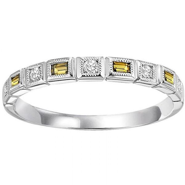 Citrine and Diamond Stackable Ring Meigs Jewelry Tahlequah, OK