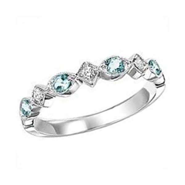 Aquamarine and Diamond Stackable Ring Meigs Jewelry Tahlequah, OK