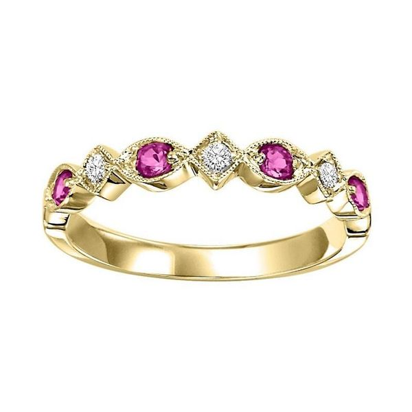 Ruby and Diamond Stackable Ring Meigs Jewelry Tahlequah, OK