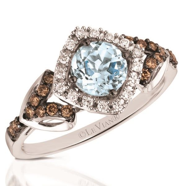 Le Vian Aquamarine & Chocolate Diamond Ring Meigs Jewelry Tahlequah, OK