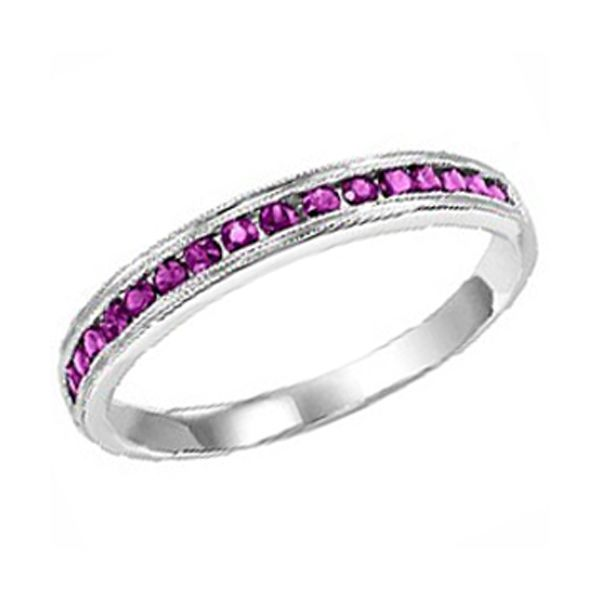 14k White Gold Ruby Band Meigs Jewelry Tahlequah, OK