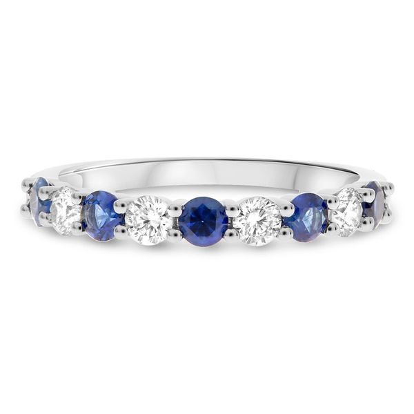 White Gold Sapphire & Diamond Band Meigs Jewelry Tahlequah, OK