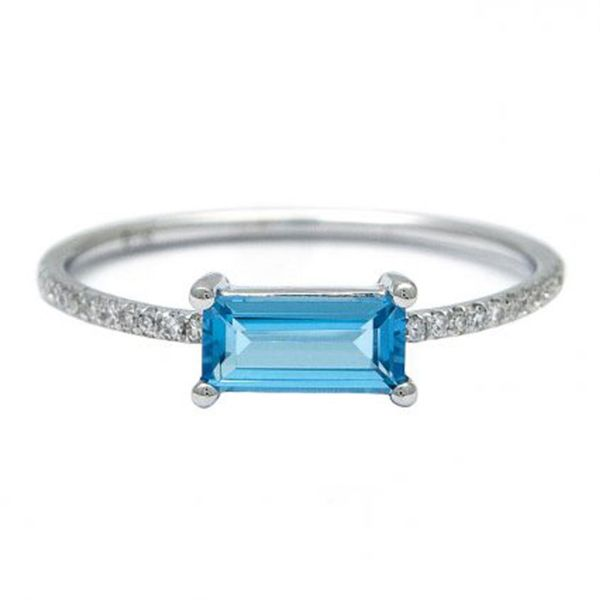 Blue Topaz & Diamond Fashion Ring Meigs Jewelry Tahlequah, OK