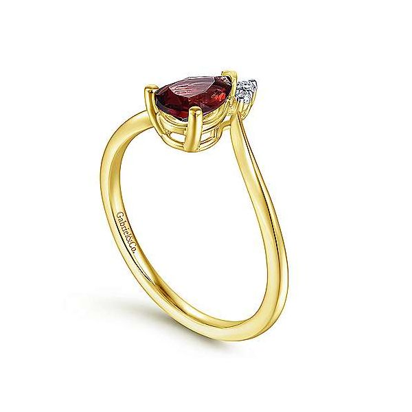 Gabriel & Co. Garnet & Diamond Fashion Ring Image 2 Meigs Jewelry Tahlequah, OK