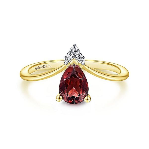 Gabriel & Co. Garnet & Diamond Fashion Ring Meigs Jewelry Tahlequah, OK