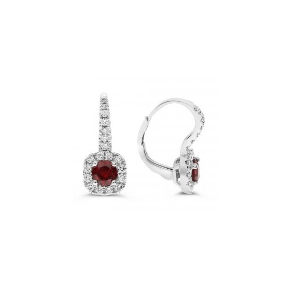 Diamond & Ruby Earrings Meigs Jewelry Tahlequah, OK